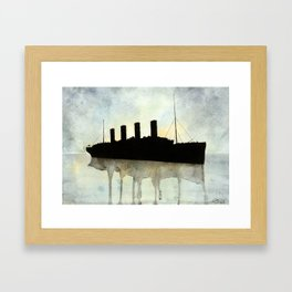 Titanic watercolour Framed Art Print