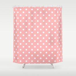 Pattern Pois Blanc/Rose Shower Curtain