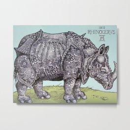 Durerhino Metal Print