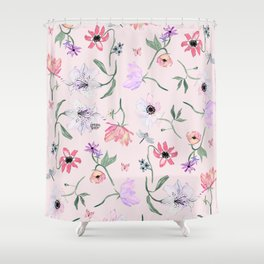 PINK LILY PRINT Shower Curtain
