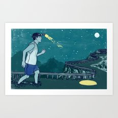 Late Night Relay Art Print