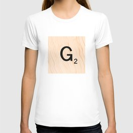 Scrabble Letter G - Scrabble Art and Apparel T-shirt