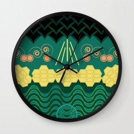 Rainforest HARMONY pattern Wall Clock