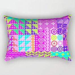 Trendy abstract geometrical neon pink teal navy blue polka dots Rectangular Pillow
