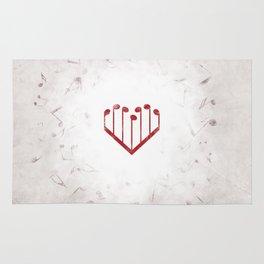 Music Heart gray Rug