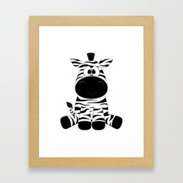 Cute Baby Zebra Framed Art Print