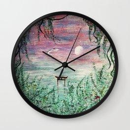 Haku and Chihiro Painting Wall Clock