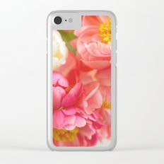 My Little Peonies Clear iPhone Case