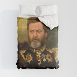 Nick Offerman Classical Painting Photoshop Comforters