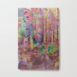 Trippy Forest 2 Metal Print