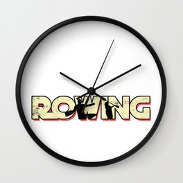 Rowing Row Rowboat Paddle Paddling Rower Sail Gift Wall Clock