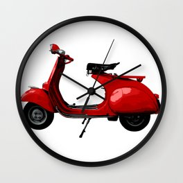 Vespa Scooter Wall Clock