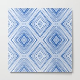 Blue watercolor pattern Metal Print