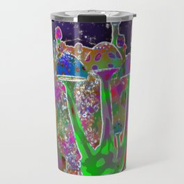 Neon Cave Shrooms Travel Mug
