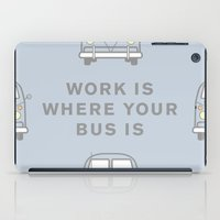 vw bus iPad Cases featuring VW Bus love by Old & Brave
