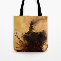 istanbul Tote Bags featuring istanbul  by Atalay Mansuroğlu