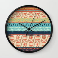 friday Wall Clocks featuring Friday by Monty