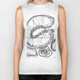 From Simplicity 2 Complexity series - Mitochondria Connections Biker Tank