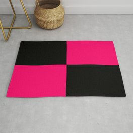 Big mosaic pink black Rug