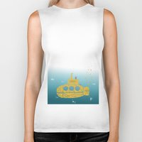 sia Biker Tanks featuring YELLOW SUBMARINE by ARCHIGRAF