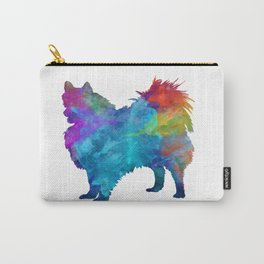 Pomeranian dog in watercolor Carry-All Pouch