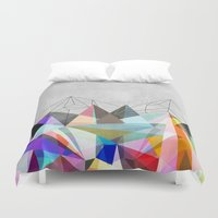 geometry Duvet Covers featuring Colorflash 3 by Mareike Böhmer