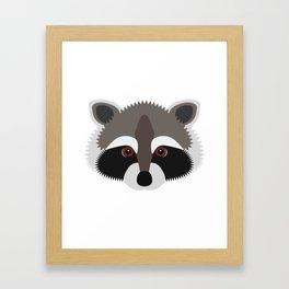 Raccoon Face Framed Art Print