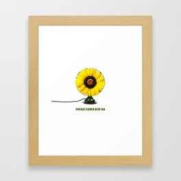 ORGANIC INVENTIONS SERIES: Vintage Flower Desk Fan Framed Art Print