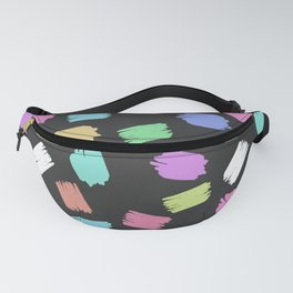 Colorful Brush Strokes - Blue Green Pink Purple Fanny Pack