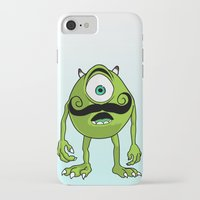 mike wrobel iPhone & iPod Cases featuring Mike by Satanoncrack