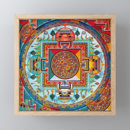 Buddhist Medicine Mandala 2 Framed Mini Art Print