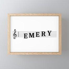 Name Emery Framed Mini Art Print