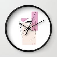 quibe Wall Clocks featuring The Ghost Who Walks by quibe