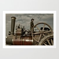 grease Art Prints featuring Steam & Grease  by Rob Hawkins Photography