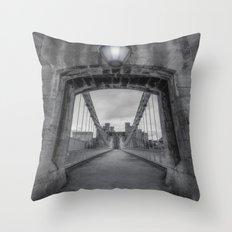 Conwy Suspension Bridge Throw Pillow