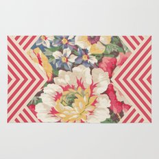 Floral Chevron Rug