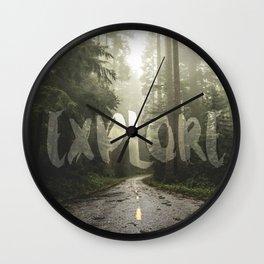 EXPLORE Wanderlust Road Trip Wall Clock