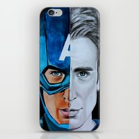 steve rogers iPhone & iPod Skins featuring Steve Rogers by Goolpia