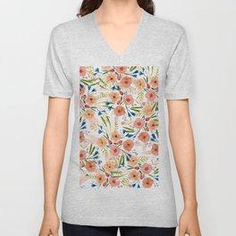 Floral Dance Unisex V-Neck