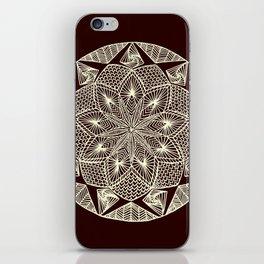 Maroon Mandala iPhone Skin