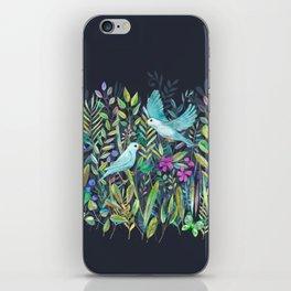 Little Garden Birds in Watercolor iPhone Skin