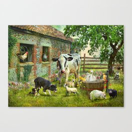 Barnyard Chatter Canvas Print