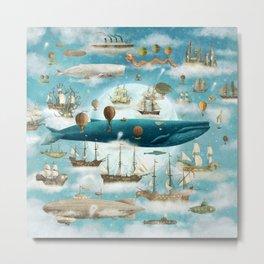 Ocean Meets Sky - book cover Metal Print