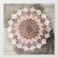 BOHOCHIC MANDALA IN CORAL Canvas Print