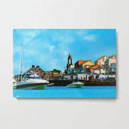 Swanage Sea View Metal Print