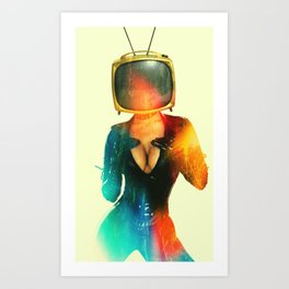 SEX ON TV - GOLDEN PUSSYCAT by ZZGLAM Art Print