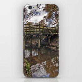Pooh Bridge In Autumn iPhone Skin