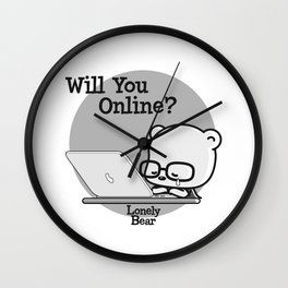 Will You Online? Wall Clock