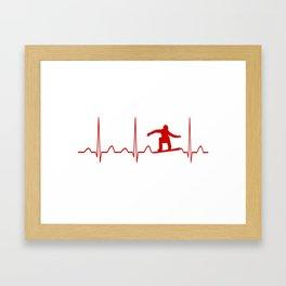 SNOWBOARDER'S HEARTBEAT Framed Art Print