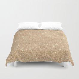 Gold Glitter Chic Glamorous Sparkles Duvet Cover
